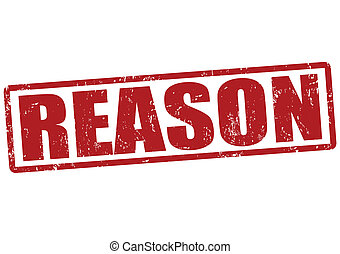 Reason stamp - Reason grunge rubber stamp on white, vector...