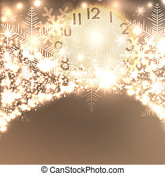 Elegant Christmas background with snowflakes and place for...