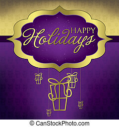 Elegant hanging decoration card in vector format