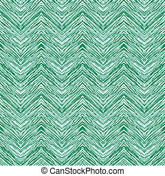 Emerald green hand drawn vector zigzag pattern - Emerald...