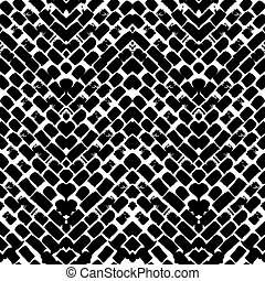 Black and white hand painted zig zag pattern - Black and...