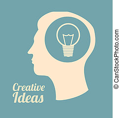 creative Ideas - creative ideas design over blue background...