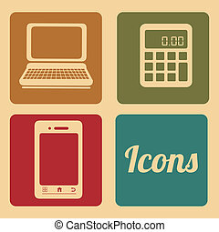 web icons over cream background vector illustration