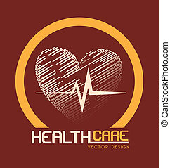 health care design over beige background vector illustration