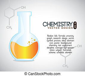 chemistry over gray background vector illustration
