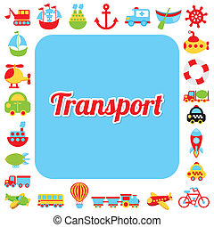 transport design over white background vector illustration