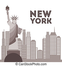 new york design over white background vector illustration