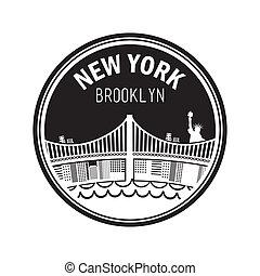 new york design over white background vector illustration
