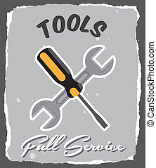 tools design  over gray background. vector illustration