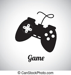 game control over gray background vector illustration