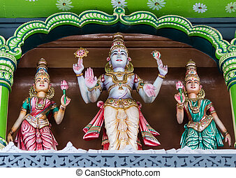 detail of a hindu temple in Singapore - Detail of Hindu...