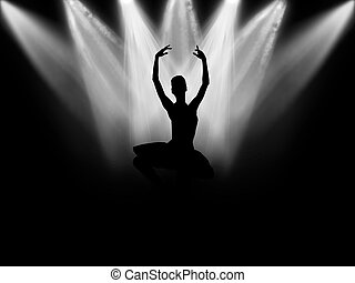 Ballerina - The ballerina who dances on a black background...