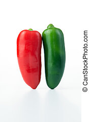 Jalapeno hot pepper - Red and green jalapeno hot peppers...