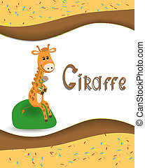 Pictures from the giraffe for bride-kid