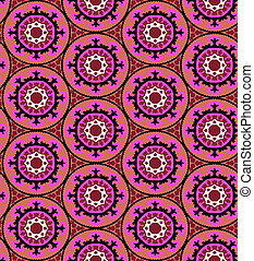 Suzani pattern - Ethnic pattern in bright color with...