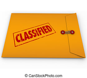 Classified Envelope Private Secret Plans Data - Classified...