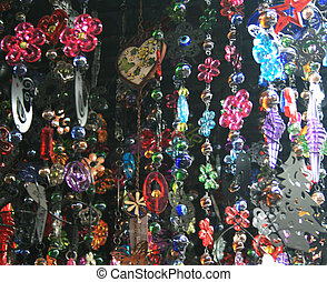 background of colorful  beads