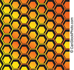 seamless Honeycomb pattern vector - image of Completely...
