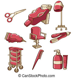 Barbershop icons - A vector illustration of barbershop icon...