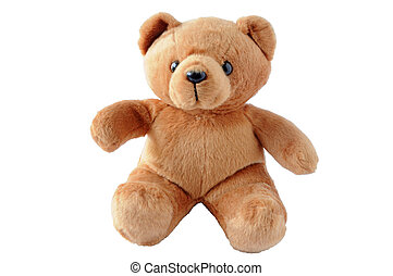 Teddy bear - Cute teddy bear sitting on white background