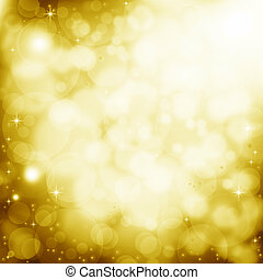 Golden lens flare background - Abstract golden background...