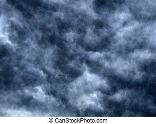 Storm clouds - Texture of dark cloudy sky