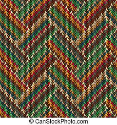 Knitted Seamless Fabric Pattern