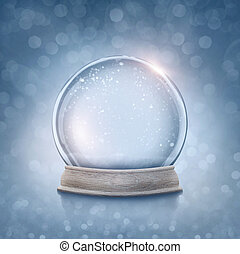 Snow globe on a blue background