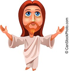 image of jesus - vector illustration of Jesus Christ on a...