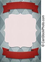 Retro circus style poster template on rhombus background...