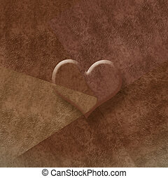 brown background romantic card,copy space - brown background...