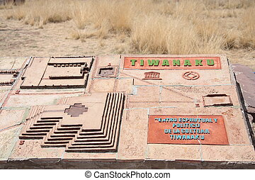 Model of Tiwanaku ancient city - Model of Tiwanaku Ancient...