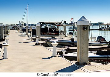 Afternoon Boat Dock - Boat dock marina