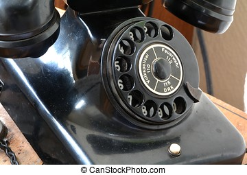 an old phone in the Technik Museum Magdeburg
