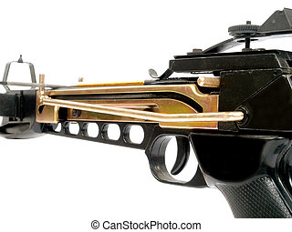 Crossbow - crossbow isolated on white background, side view,...