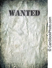 Antique poster - Wanted dead or alive