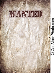 Antique poster - Wanted