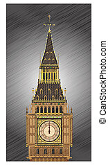 Striking Midnight - A detailed illustration of the Big Ben...