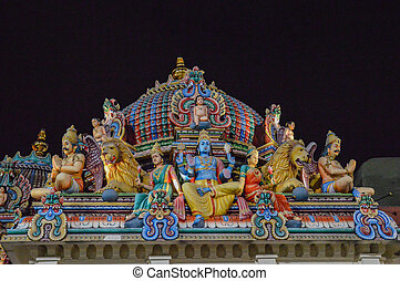 sri Mariamman Temple, Singapore - detail of the Sri...