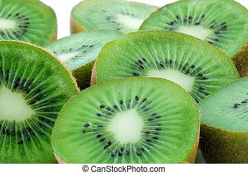 Food Kiwi Fruit slices close-up