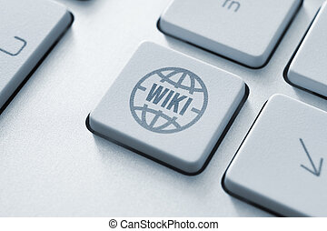 Wiki button - Computer button on a keyboard with wiki...