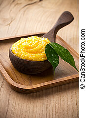 Mango body butter. Healthcare aromatherapy.