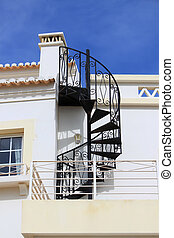 Swirl iron staircase - Abstract twisty iron staircase...