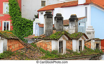 Colorful rooftops of Coimbra, Portugal