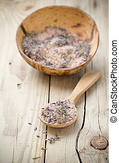 Lavender - Lavender bath salt Spa accessories,
