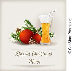 Special Christmas menu template - Special Christmas menu...