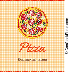 Menu template with pizza - Menu template for pizza...
