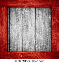 white wooden background in red wood frame or grey planks...