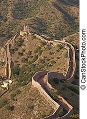 Defensive Wall - Defensive wall running along the crest of a...