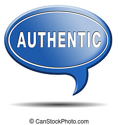 authentic button or icon quality guaranteed label...